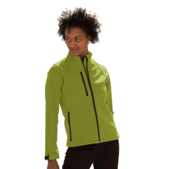 Ladies Soft Shell Jacket Russel - cactus