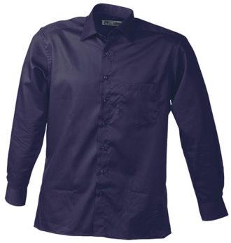 Werbeartikel Business Hemd Shirt longsleeved - aubergine