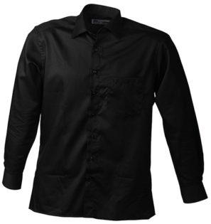 Werbeartikel Business Hemd Shirt longsleeved - black