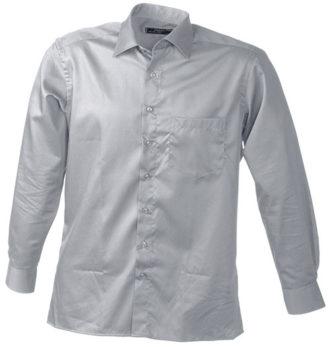Werbeartikel Business Hemd Shirt longsleeved - lightgrey