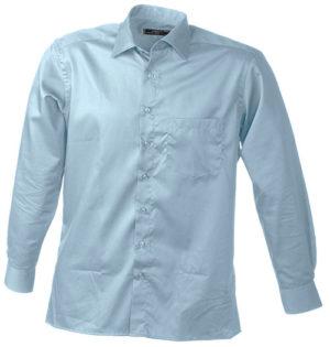 Werbeartikel Business Hemd Shirt longsleeved - lightblue