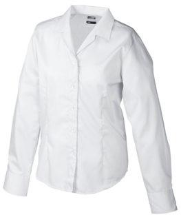 Werbeartikel Damen Business Bluse longsleeved - white