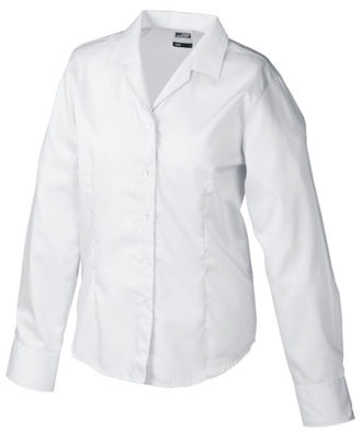 Werbeartikel Damen Business Bluse longsleeved - white