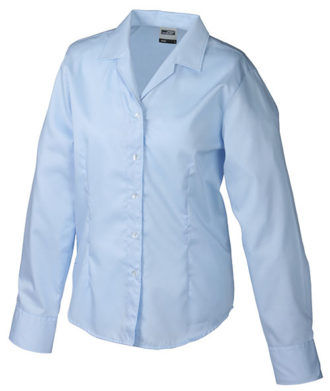 Werbeartikel Damen Business Bluse longsleeved - lightblue