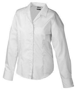Werbeartikel Damen Business Bluse longsleeved - lightgrey