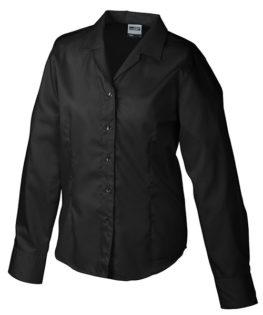 Werbeartikel Damen Business Bluse longsleeved - black