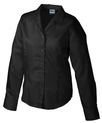 Werbeartikel Damen Business Bluse longsleeved - black