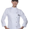 Ladies Chef Jacket Larissa KARLOWSKY - white