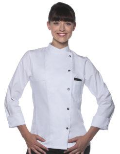 Ladies Chef Jacket Larissa KARLOWSKY - white