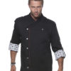 Fashionable Rock Chefs Jacket KARLOWSKY - schwarz vorne
