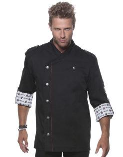Fashionable Rock Chefs Jacket KARLOWSKY - schwarz vorne