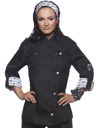 Fashionable Rock Chefs Ladies Jacket KARLOWSKY - schwarz