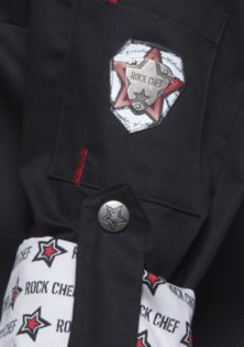Fashionable Rock Chefs Ladies Jacket KARLOWSKY - Ärmeltaschemit Stiftfach