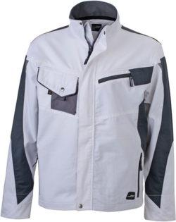 Werbemittel Workwear Jacke - white/carbon