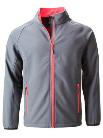 Men's Promo Softshell Jacket James & Nicholson - iron grey redd