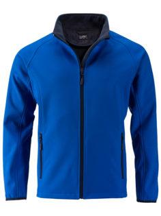 Men's Promo Softshell Jacket James & Nicholson - nautic blue navy