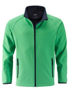 Men's Promo Softshell Jacket James & Nicholson - green navy
