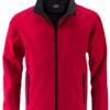 Men's Promo Softshell Jacket James & Nicholson - red black