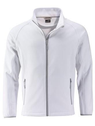 Men's Promo Softshell Jacket James & Nicholson - white white