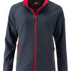 Ladies Promo Softshell Jacket James & Nicholson - iron grey red