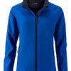 Ladies Promo Softshell Jacket James & Nicholson - nautic blue navy