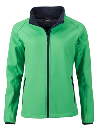 Ladies Promo Softshell Jacket James & Nicholson - green navy