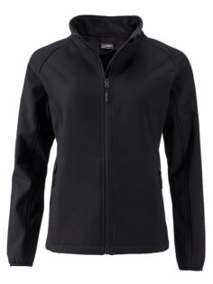 Ladies Promo Softshell Jacket James & Nicholson - black black