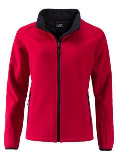 Ladies Promo Softshell Jacket James & Nicholson - red black