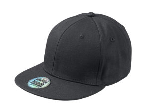 6 Panel Pro Cap Style James & Nicholson - black black