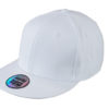 6 Panel Pro Cap Style James & Nicholson - white white
