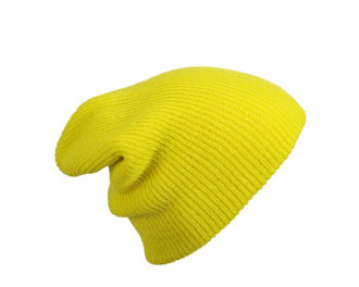 Knitted Long Beanie James & Nicholson - yellow
