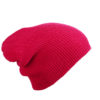 Knitted Long Beanie James & Nicholson - pink