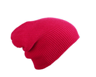 Knitted Long Beanie James & Nicholson - pink