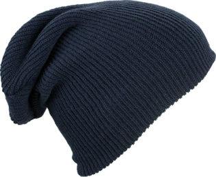 Knitted Long Beanie James & Nicholson - navy