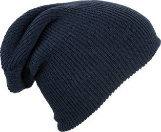 Knitted Long Beanie James & Nicholson - navy