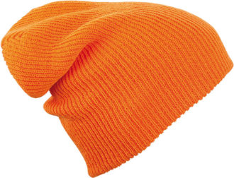 Knitted Long Beanie James & Nicholson - orange