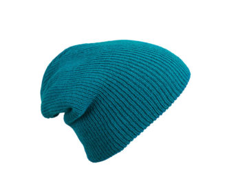 Knitted Long Beanie James & Nicholson - petrol