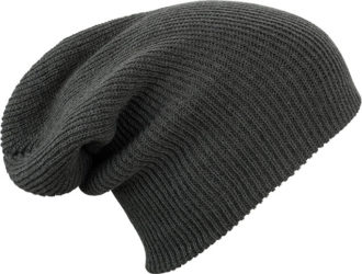 Knitted Long Beanie James & Nicholson - darkgrey melange