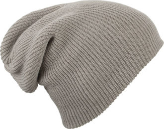 Knitted Long Beanie James & Nicholson - lightgrey melange