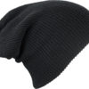 Knitted Long Beanie James & Nicholson - black