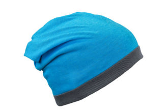 Heather Summer Beanie James & Nicholson - turquoisemelange darkgrey