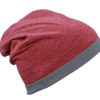Heather Summer Beanie James & Nicholson - winemelange darkgrey