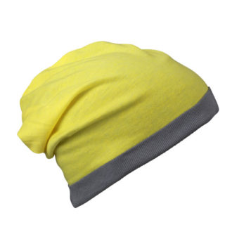 Heather Summer Beanie James & Nicholson - yellowmelange darkgrey