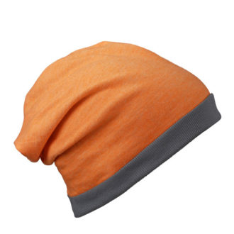 Heather Summer Beanie James & Nicholson - orangemelange darkkrey