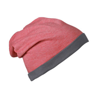 Heather Summer Beanie James & Nicholson - redmelange darkgrey