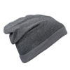 Heather Summer Beanie James & Nicholson - blackmelange darkgrey
