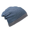 Heather Summer Beanie James & Nicholson - bluemelange darkgrey