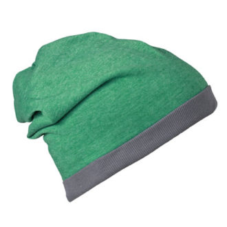 Heather Summer Beanie James & Nicholson - greenmelange darkgrey