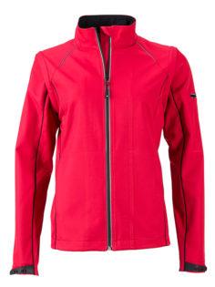 Ladies Zip Off Jacket James & Nicholson - red black
