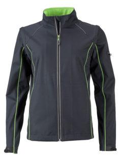 Ladies Zip Off Jacket James & Nicholson - irongrey green